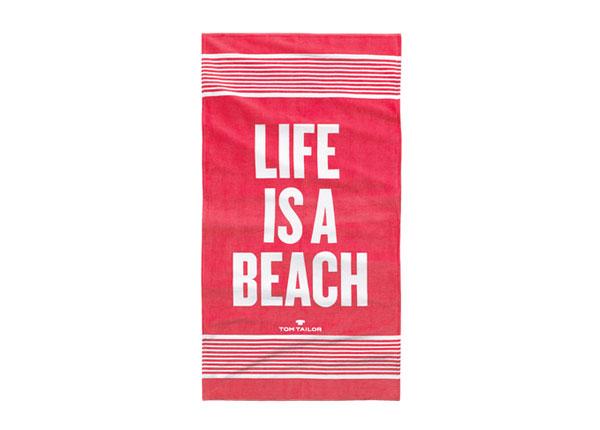 Rantapyyhe TOM TAILOR, LIFE IS A BEACH 85x160 cm AÄ-130247