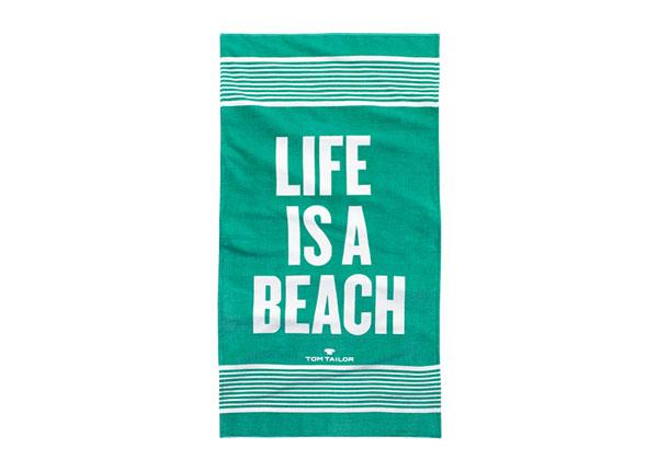 Rantapyyhe TOM TAILOR, LIFE IS A BEACH 85x160 cm AÄ-130248