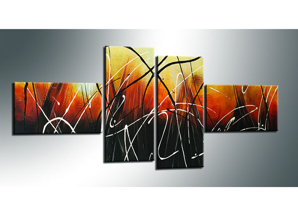 Neljaosaline seinapilt Abstrakt 70x160 cm