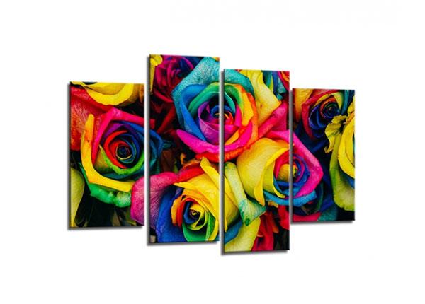 Neljaosaline seinapilt Roses 80x130cm