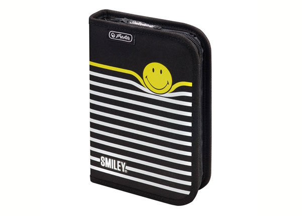 Заполненный пенал Herlitz Smileyworld Black Stripes BB-130931