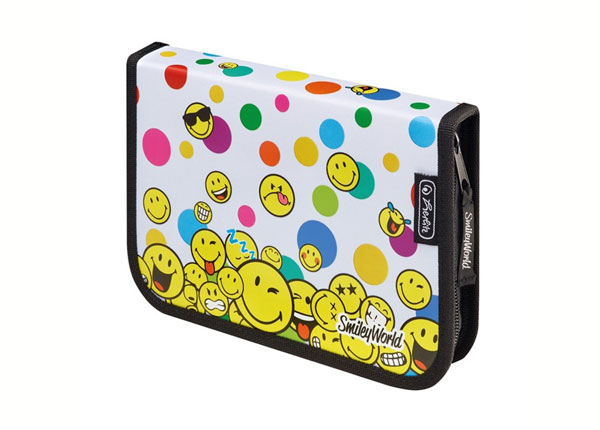 Заполненный пенал Herlitz Smileyworld Rainbow Faces BB-130934
