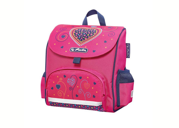 Selkäreppu Herlitz Mini softbag Pink Hearts BB-130982