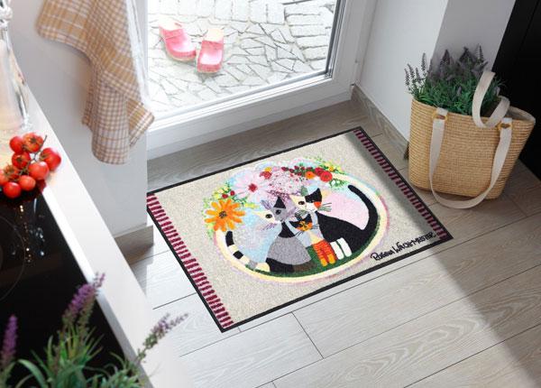 Ovimatto FAMIGLIA CON FIORE 50x75 cm A5-131043