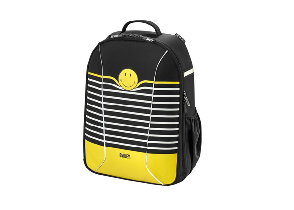 Koulureppu HERLITZ BE BAG AIRGO SMILEYWORLD BLACK STRIPES BB-131106