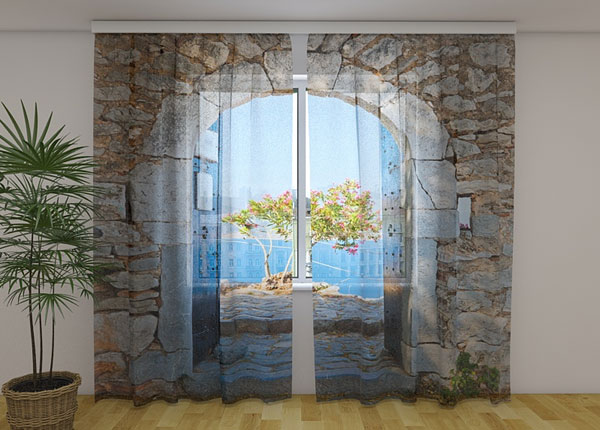 Sifonki-kuvaverho ARCHWAY TO THE SEA 240x220 cm ED-131432