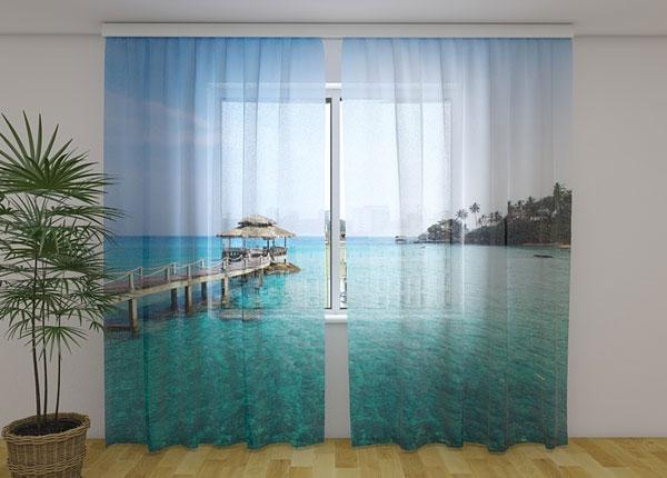 Sifonki-kuvaverho PARADISE ISLAND 240x220 cm ED-131465