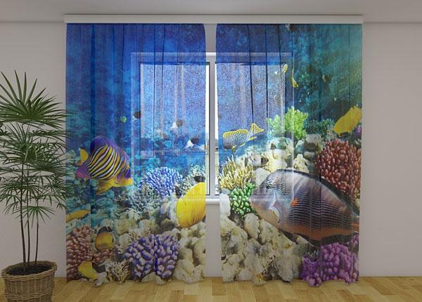 Sifonki-kuvaverho SEA FAIRY TALE 240x220 cm ED-131500