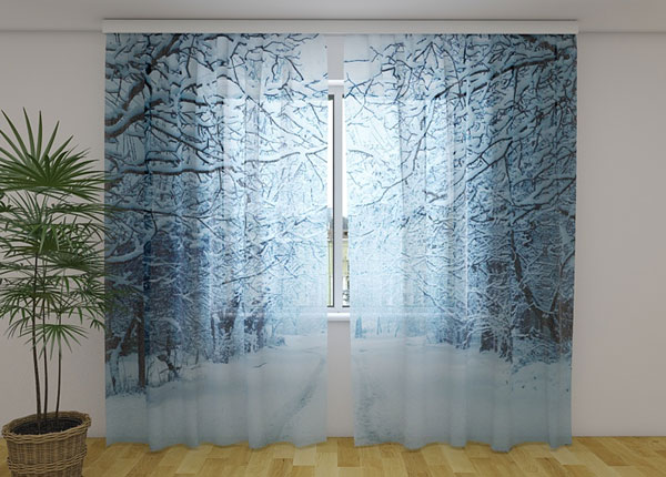 Sifonki-kuvaverho SNOWY EVENING 240x220 cm ED-131502