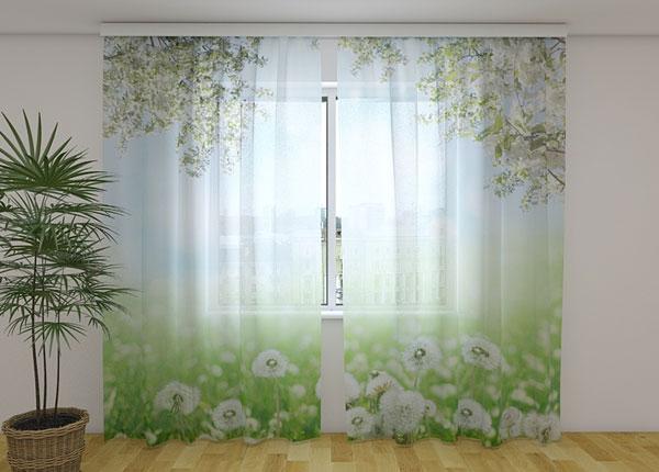 Sifonki-kuvaverho WHITE DANDELIONS 240x220 cm ED-131518