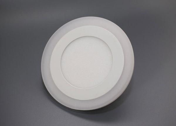 Upotettava paneelivalaisin 3+3 W, Ø10,5 cm