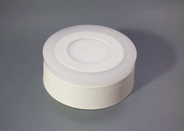 Pintapuolinen paneelivalaisin 3+3 W, Ø10,5 cm