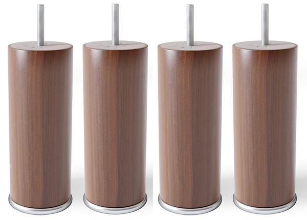 Ümmargused puitjalad metallist servaga 15 cm