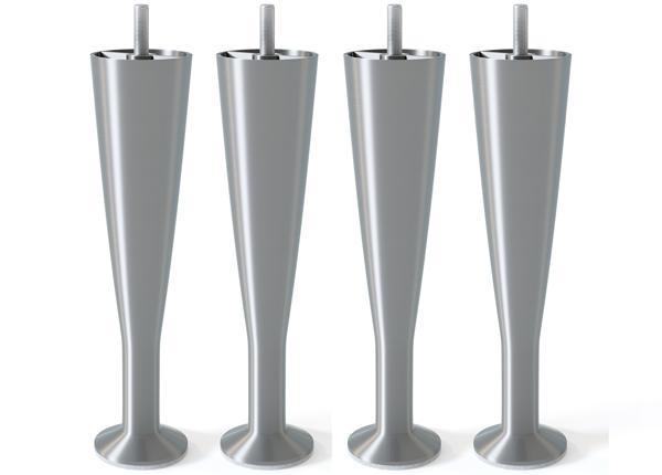 Металлические ножки, матовое серебро 18 cm
