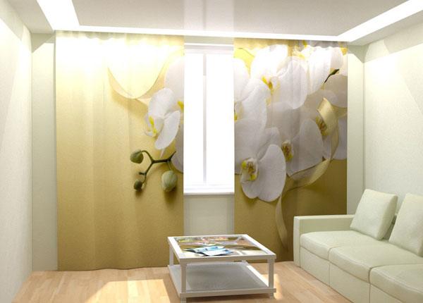 Kuvaverhot WHITE ORCHID 300x260 cm AÄ-132726