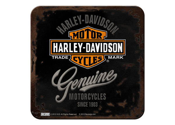 Retro lasinalusta HARLEY DAVIDSON GENUINE 4 kpl SG-132728