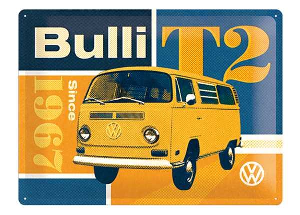 Retrotyylinen metallijuliste VW T2 BULLI 30x40 cm SG-132729
