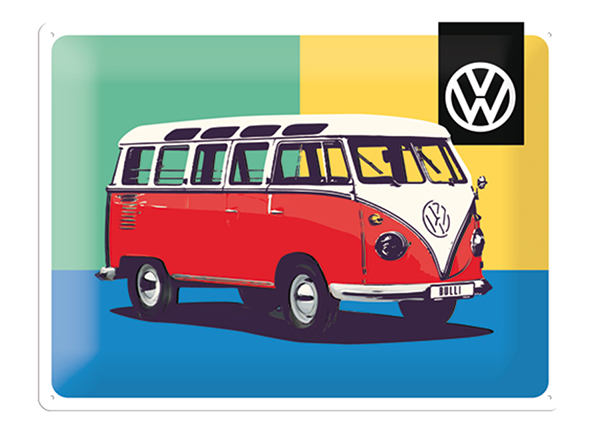 Retro metallijuliste VW Bulli Pop Art 30x40cm SG-132749