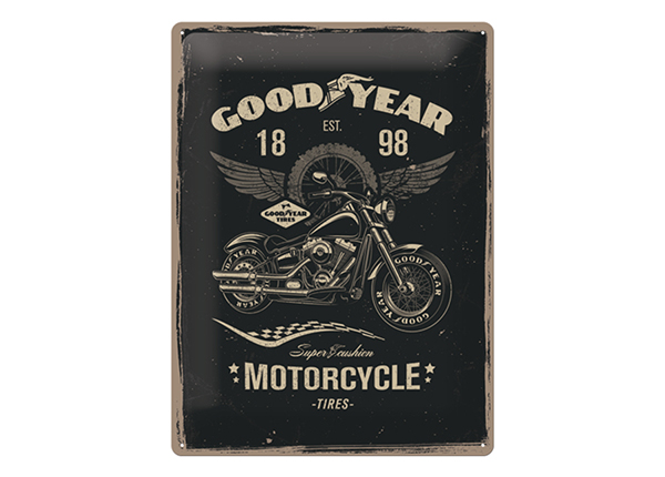 Retro metallposter GoodYear Motorcycle 30x40 cm SG-132759