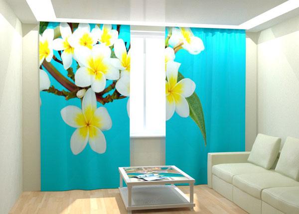 Фотошторы Tropical Flowers Blue 300x260 cm AÄ-132762