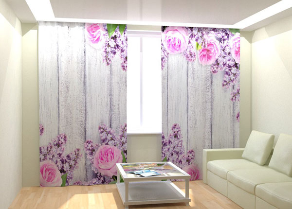 Kuvaverhot PINK FLOWERS 300x260 cm AÄ-132994
