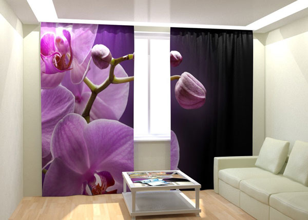 Fotokardinad Orchid in the night 300x260 cm AÄ-132997
