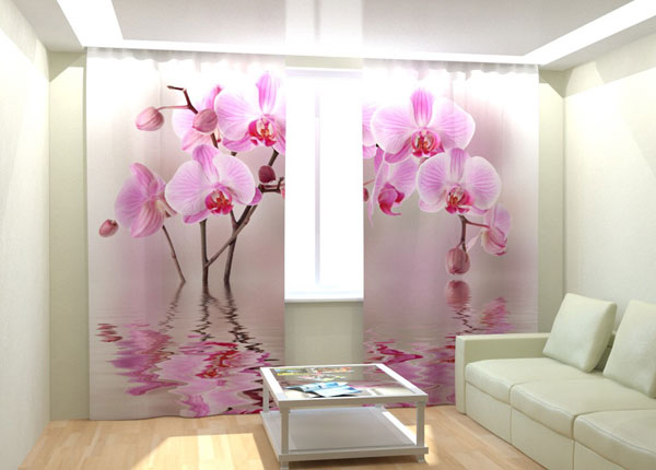 Kuvaverhot ORCHID ON THE WATER 300x260 cm AÄ-133006