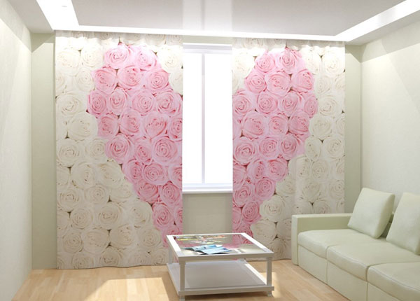 Kuvaverhot HEART 300x260 cm AÄ-133012
