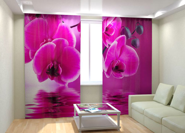 Fotokardinad Pink Orchid on the water 300x260 cm AÄ-133018