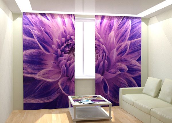 Kuvaverhot PURPLE FLOWER 300x260 cm AÄ-133051