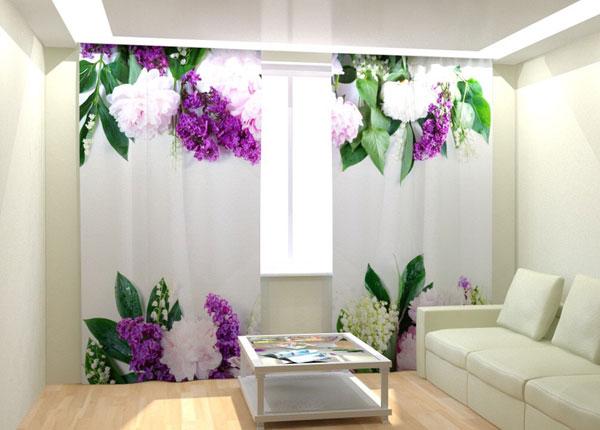 Fotokardinad Pion, Lily and Lilac 300x260 cm AÄ-133394