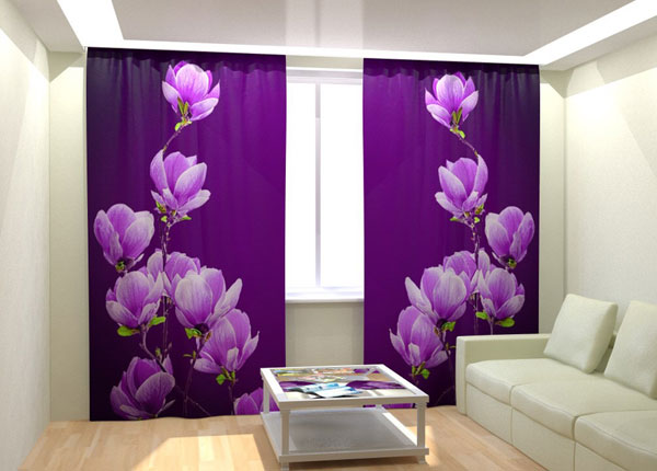 Fotokardinad Purple Magnolia 300x260 cm AÄ-133412