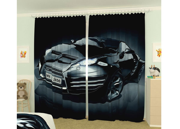 Kuvaverhot BLACK CAR 300x260 cm AÄ-133419