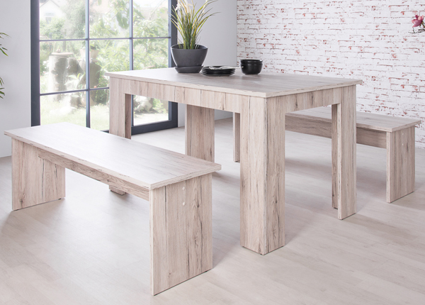 Ruokapöytä 139x80 cm + 2 penkkiä