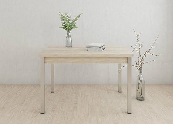 Jatkettava ruokapöytä 80x120-187 cm, valkaistu tammi AY-133736