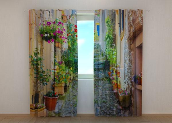 Läbipaistev kardin Back Street in Flowers 240x220 cm ED-133747