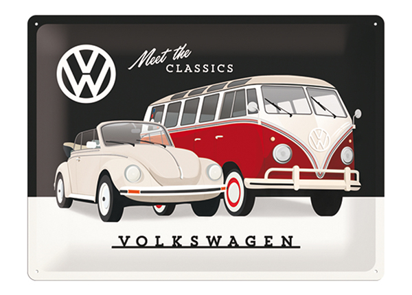 Retro metallijuliste VW MEET THE CLASSIC 30x40 cm SG-133794