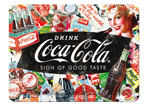Retro metallposter Coca-Cola Collage 15x20 cm SG-133796