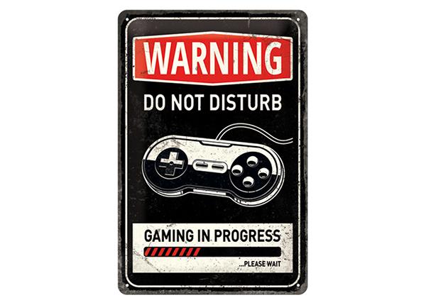 Retro metallposter Gaming in Progress 20x30 cm