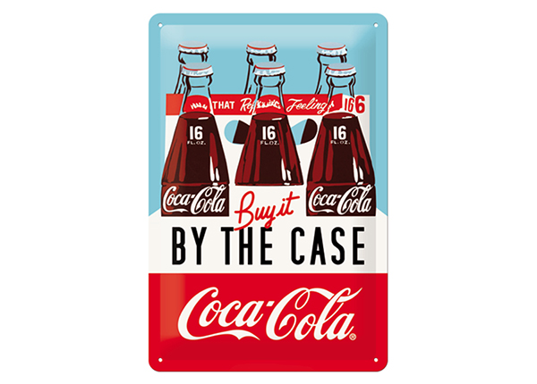 Retro metallposter Coca-Cola Buy it by The Case 20x30 cm SG-133819