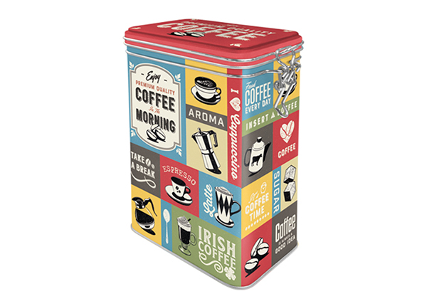 Peltipurkki COFFEE COLLAGE 1,3 L