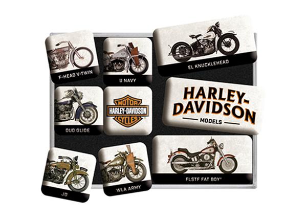 Retro magnetid Harley-Davidson models 9 tk