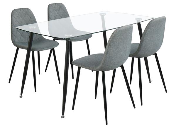 Ruokapöytä KOO ja 4 tuolia