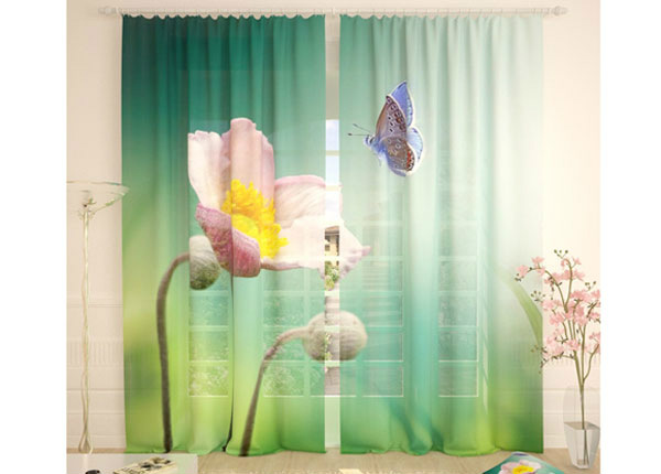 Tylliverhot FLOWER AND BUTTERFLY 290x260 cm AÄ-134090