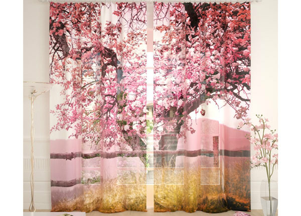 Tüllkardinad Pink Tree 290x260 cm AÄ-134108