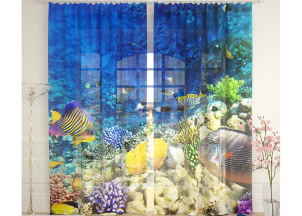 Tylliverhot SEA WORLD 290x260 cm AÄ-134129