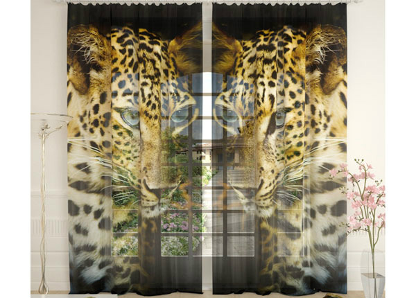 Tüllkardinad Leopard 290x260 cm AÄ-134130