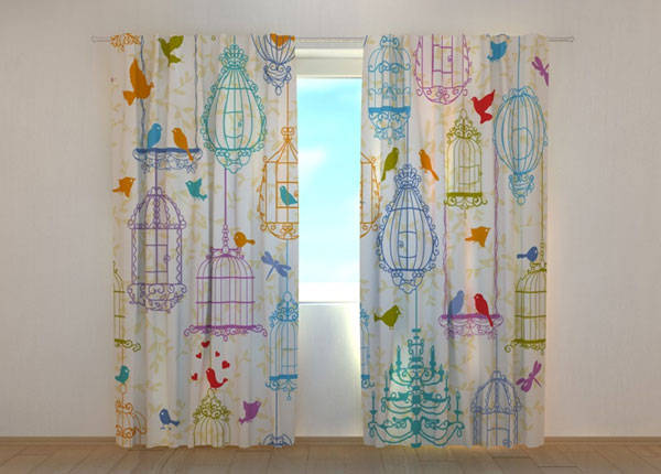 Poolpimendav kardin Bright Birdies 240x220 cm ED-134237