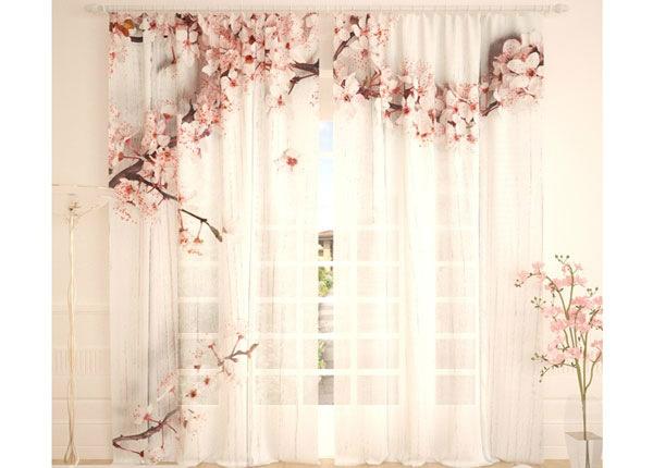 Tüllkardinad Blooming Cherry 290x260 cm AÄ-134284
