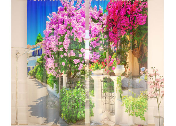 Tüllkardinad Lilac Garden 290x260 cm AÄ-134289